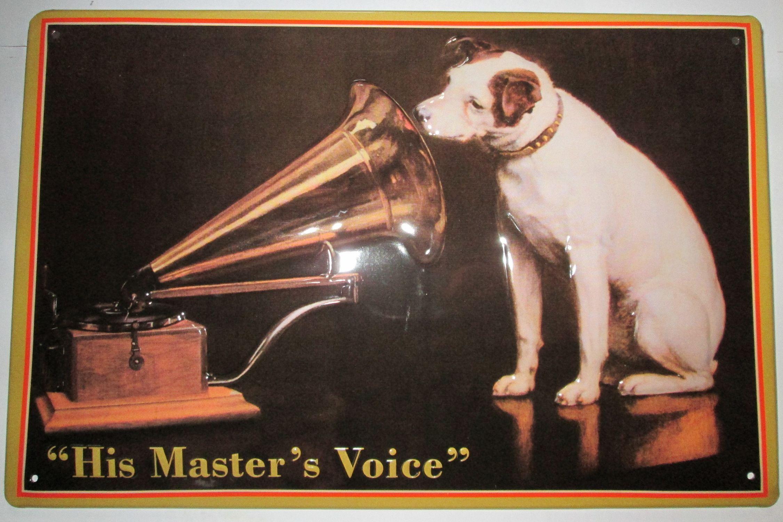 his masters voice grammophon blechschild ebay. Black Bedroom Furniture Sets. Home Design Ideas