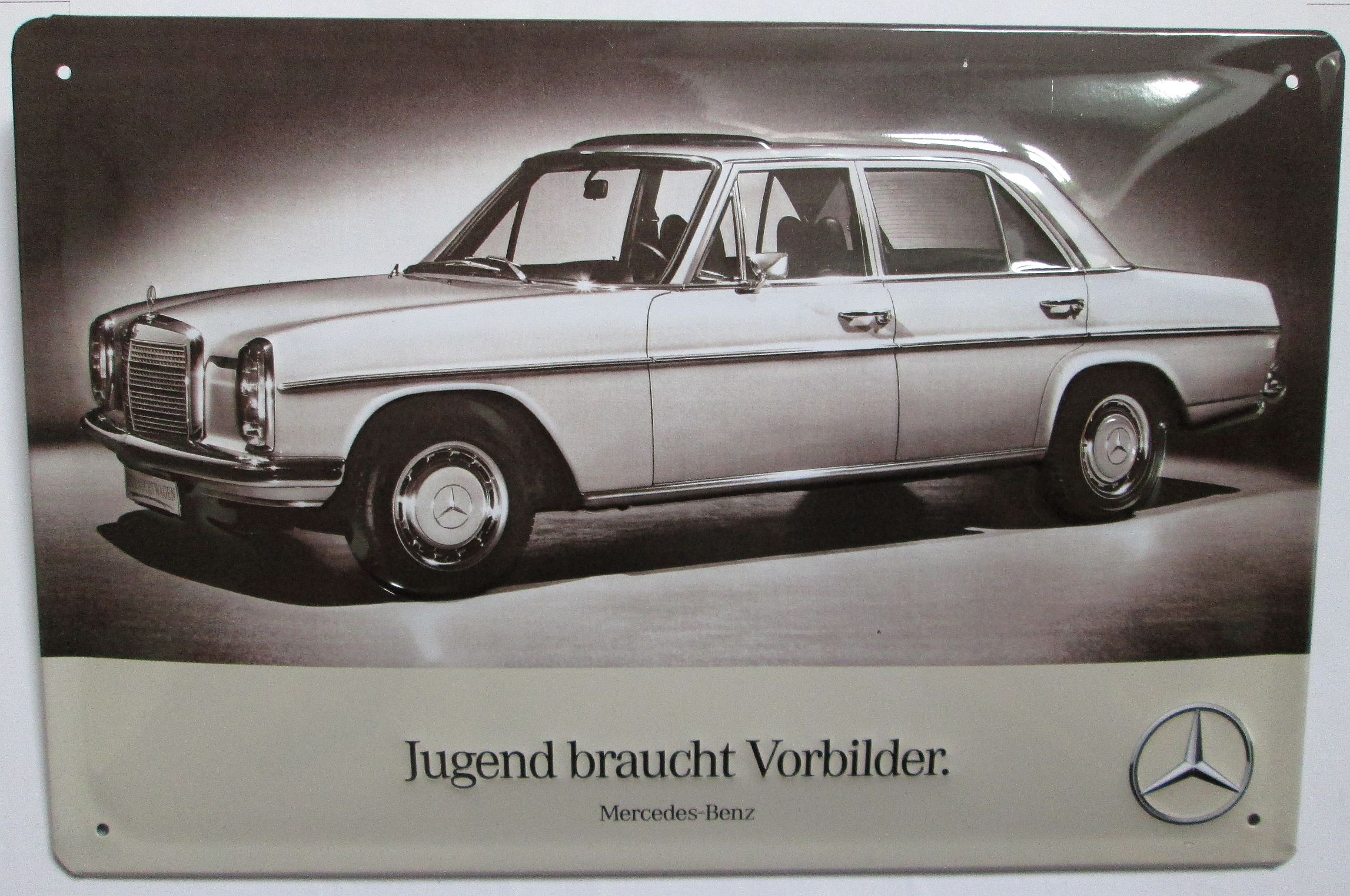 Jugend used role models mercedes benz tin sign ebay for Mercedes benz sign in